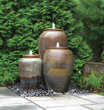 Large And Cheap Outdoor Garden Water Fountains With Lights