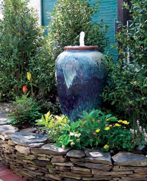 Large And Outdoor Garden Water Fountains With Lights